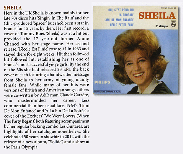 sheila officiel toujours chic cd angleterre