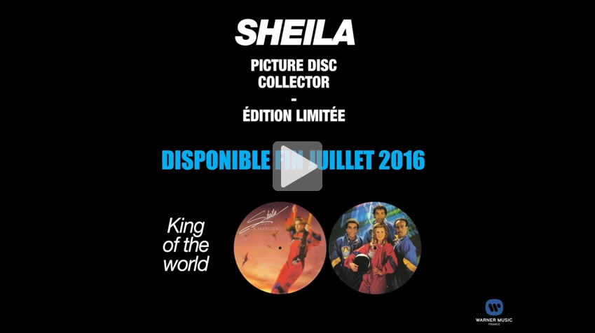 sheila king of the world lp picture disc vinyle
